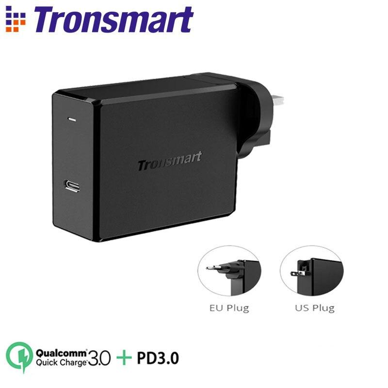 Tronsmart WCP02 настенное зарядное устройство питания 3,0 Беспроводное зарядное устройство 60 Вт Быстрая зарядка зарядное устройство для телефона MacBook зарядное устройство для ноутбука