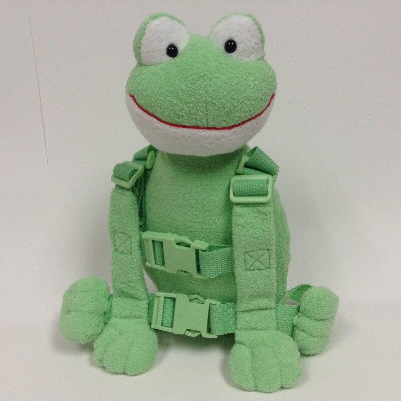 Приятель для того, чтобы держать 2-в-1 Детские накладной Рюкзак Детские поводья для От 1 до 3 лет вокруг - Цвет: Frog 2
