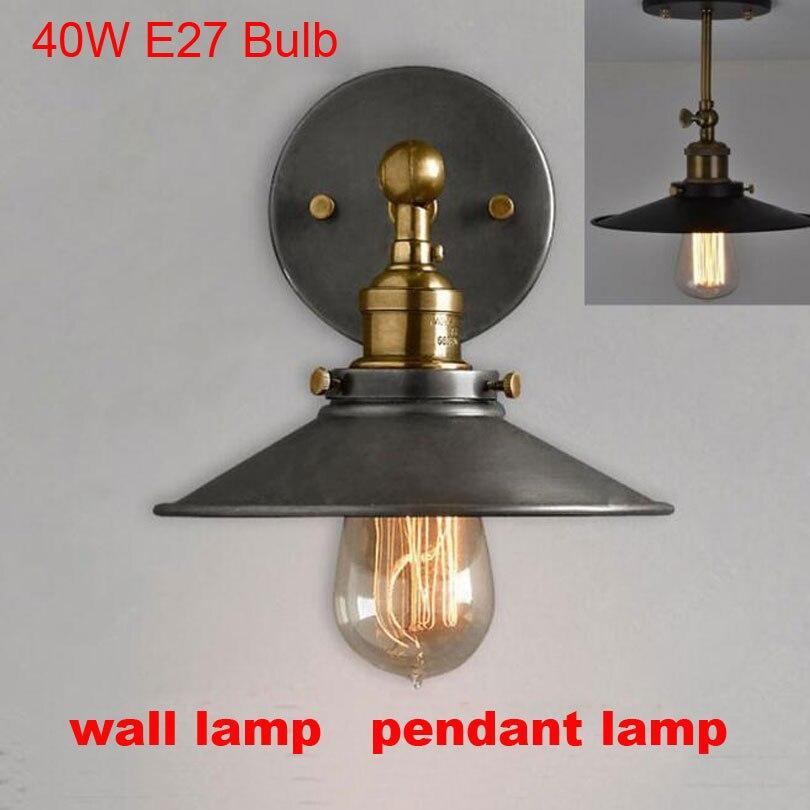 American vintage Fer loft industriel mur lampe éclairage intérieur Métal de chevet lumières pour la maison 110 V/220 V E27 Edison Ampoule 40 W