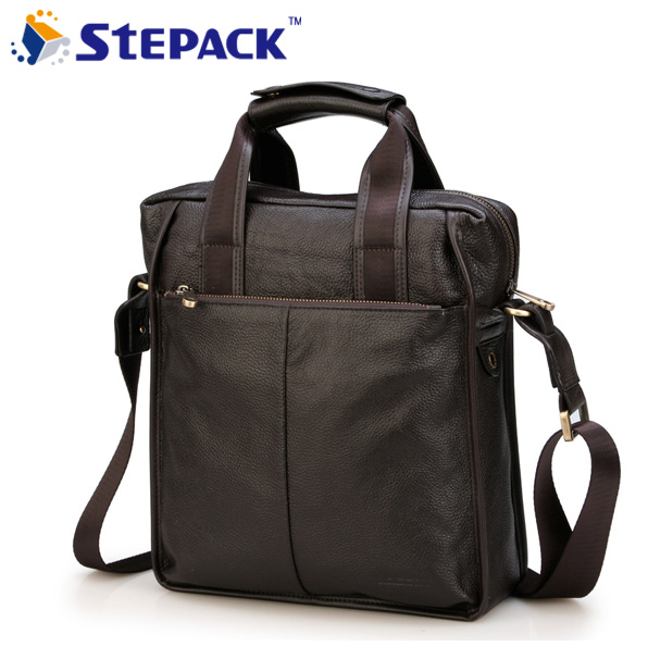 Male shoulder bag genuine leather man commercial handbag messenger bags briefcase male cowhide casual bag wire man bag 2017 handbag male shoulder bag cross body bag commercial document bag