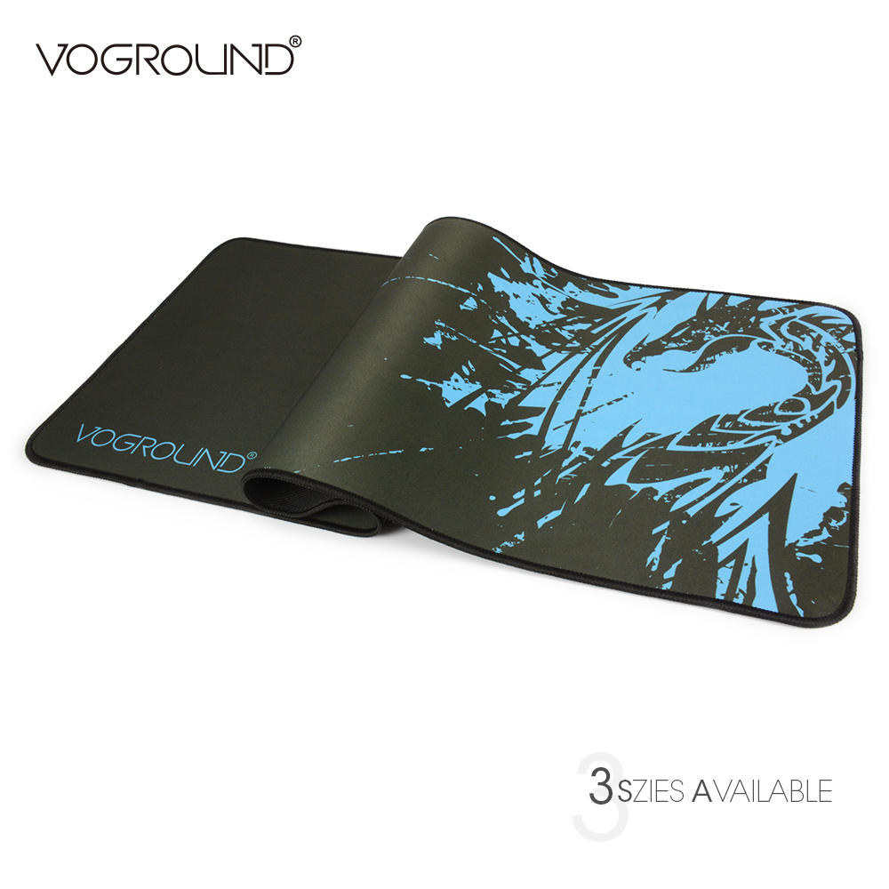 VOGROUND New Blue Dragon Speed Large Gaming Mouse Pad For LOL Laptop Locking Edge Natural Rubber Mousepad Mat For CS Dota metal adjustable arm rest wrist support extended mousepad rotation ergonomic mouse pad shoulder protect for office game