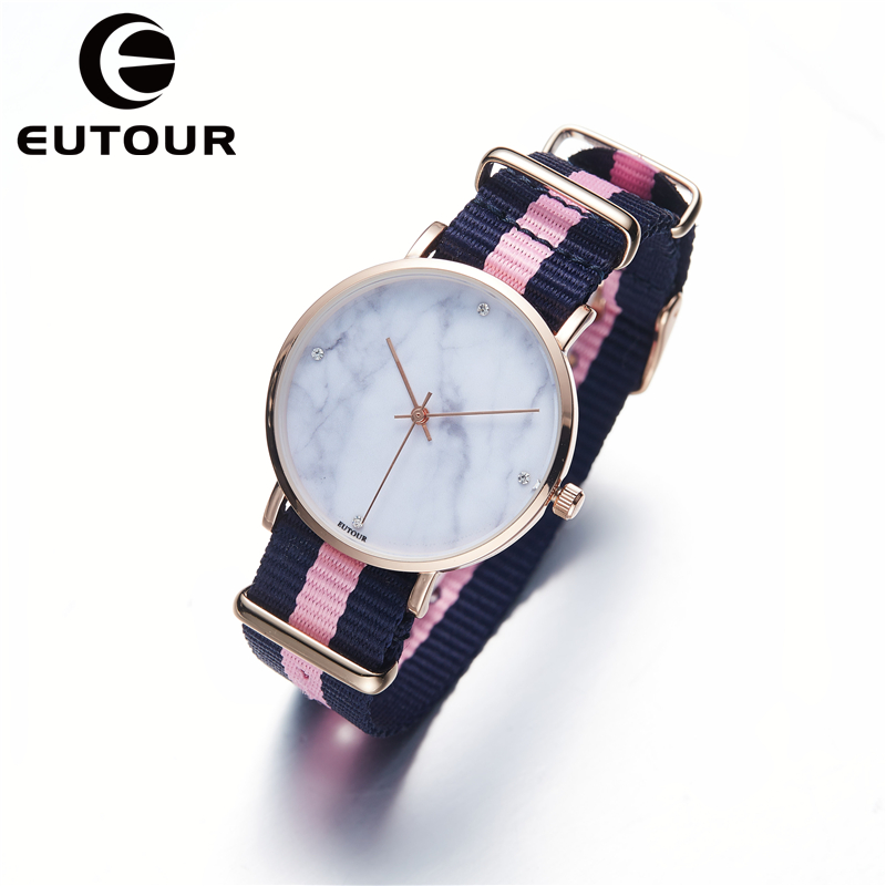 EUTOUR Ultra Thin Geneva Marble Watch Women Simple bracelet Nylon bling watches Ladies dress Quartz Wristwatches rose gold Clock jade cushion ms tomalin germanium stone cushion far infrared heating health boss chair cushion foot 45 45 cm