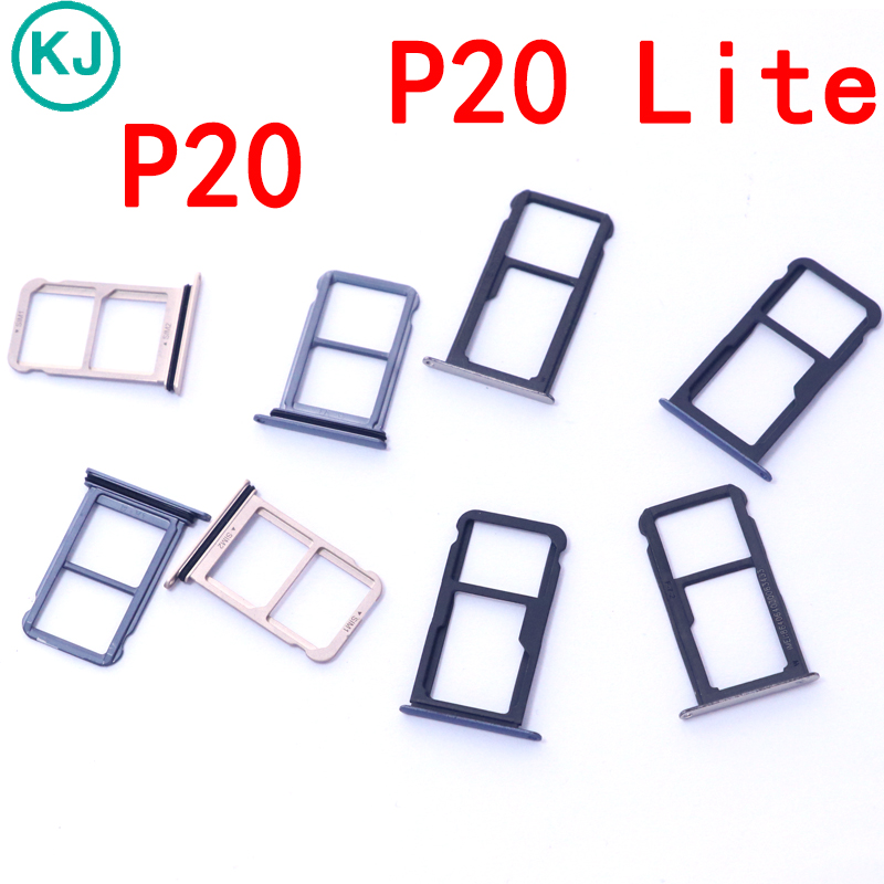 Original P20 Lite Sim Card Tray Slot Holder For Huawei P20 P20Lite sim card slot Adapter