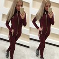 High Quality 2 two piece set 2016 autumn casual women tracksuits long sleeve zipper new women pants sweatsuit women sets