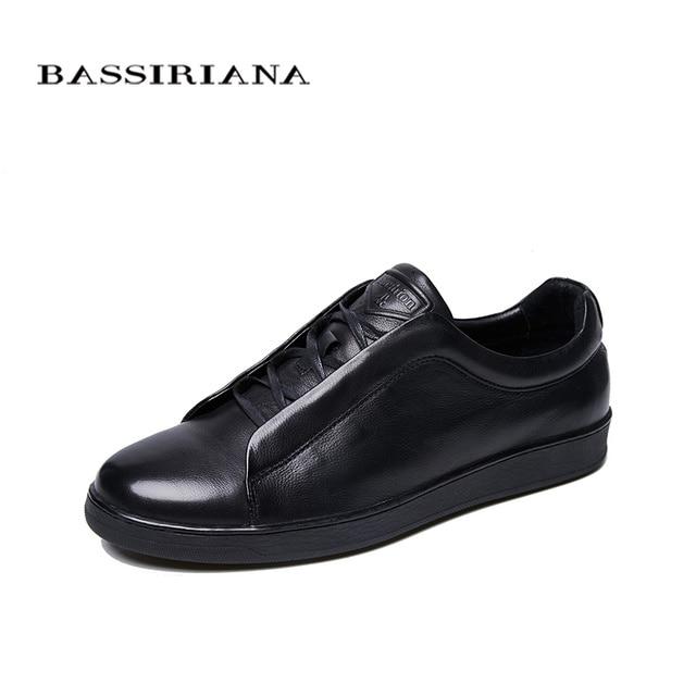 2018 Новый Для мужчин; повседневная обувь из натуральной кожи синий Черного цвета; Бесплатная доставка