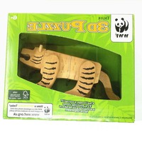 069 high quality Educational Games Toys wooden puzzle animal tiger IQ brain teaser Kong Ming Lock /Lu Ban Lock