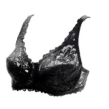 Bra Plus Size Sexy Push Up bra Lace Busty Underwear For Women sexy 5/8 Cup Adjustable Strap Underwire Thin Bra D E black nude trendy push up spaghetti strap underwire lace bra set for women