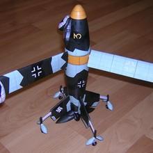Немецкая мировая война 2 Fokker wal Triebflugeljager реактивный истребитель 3D бумажный модельный комплект