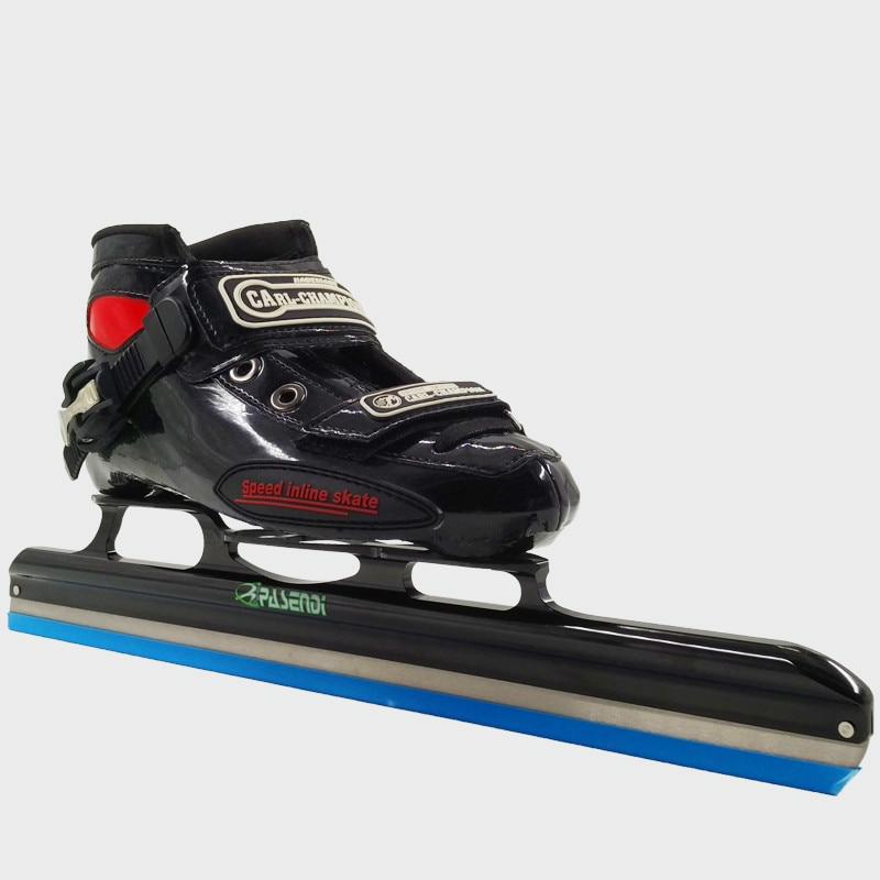 Prix pour Rouleau Patins À Roues Alignées Patins Glace Lame pour Slalom Vitesse chaussures de Patinage sur glace Femmes/Hommes Professionnel patins à roues alignées En Fiber De Carbone bottes
