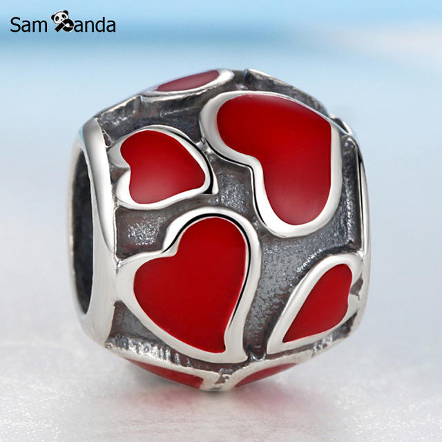 Authentic 1pc 100% 925 Sterling Silver Beads Charms Antique Glaze Bead Fit Women Bracelets & Bangles DIY Jewlery SS0174