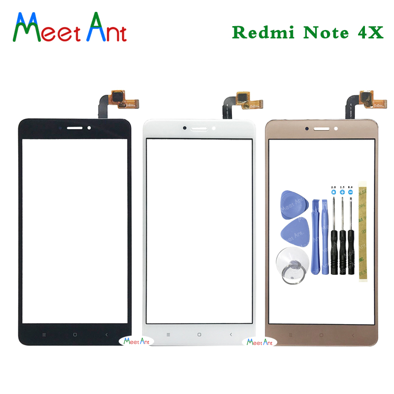 High Quality 5.5'' For Xiaomi Redmi Note 4 / Note 4X Touch Screen Digitizer Sensor Outer Glass Lens Panel Black White Gold