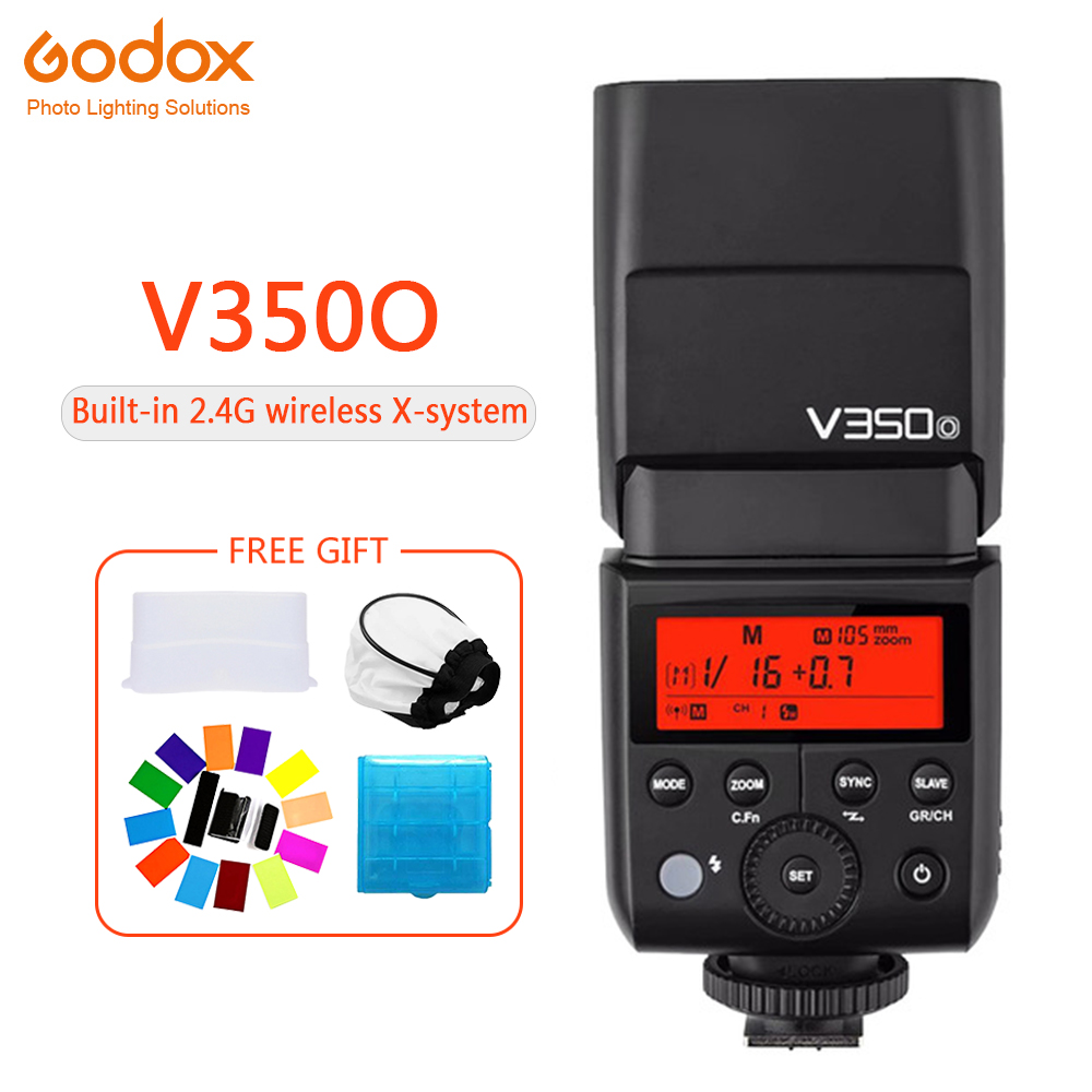 Godox V350 V350O Speedlite flash lithium battery TTL HSS 1/8000s 2.4G Wireless photography for Olympus E-M10 E-M5 II E-M1 e-PL8Godox V350 V350O Speedlite flash lithium battery TTL HSS 1/8000s 2.4G Wireless photography for Olympus E-M10 E-M5 II E-M1 e-PL8