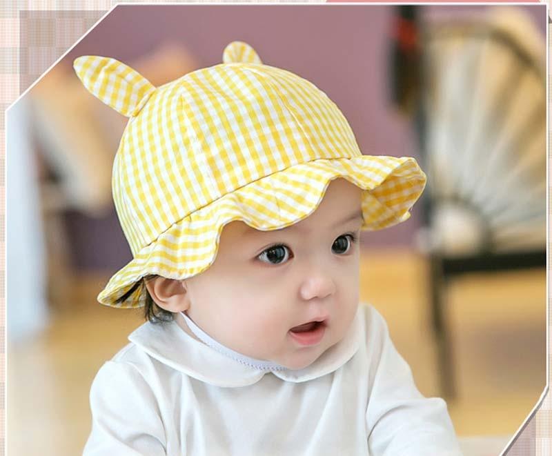 330b148a5fad Printemps Automne bébé de chapeau fille princesse bassin chapeau de bébé  soleil chapeau bebe beanie tous pour enfants accessoires dans Chapeaux et  ...