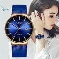 Женские камуфляжные часы LIGE  модные классические часы с цветным циферблатом черного цвета  2019