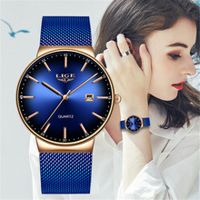 LIGE Creative Watches Women 2019 Cool Luxury Designer Camouflage Fashion Style Watch Classic Black Colorful Dial