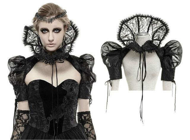 Gothic Aristocrat Victoriano mujeres chaqueta corta, Punk Rave, Regency, hight collar. el envío libre