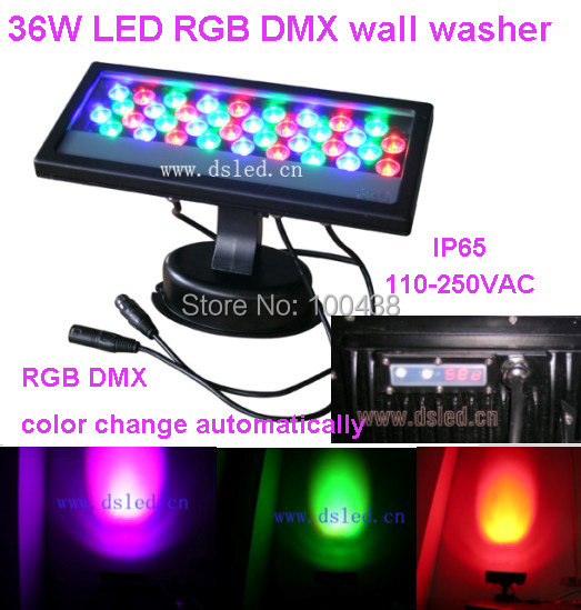 3-Year warranty,good quality 36W DMX LED RGB spotlight,LED RGB wash light,110-250VAC,DS- ...