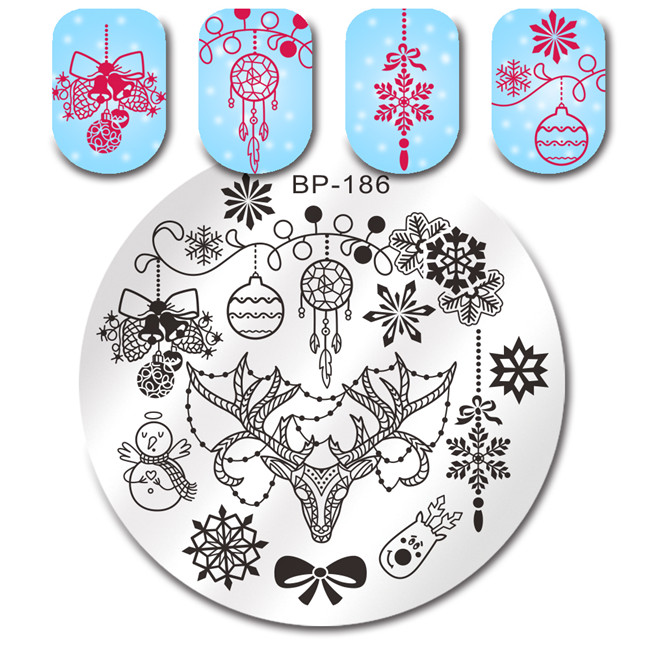 BORN-PRETTY-Christmas-Rectangle-Nail-Stamping-Template-Flower-Animal-Geometry-Love-Valentine-s-Day-Nail-Art (2)