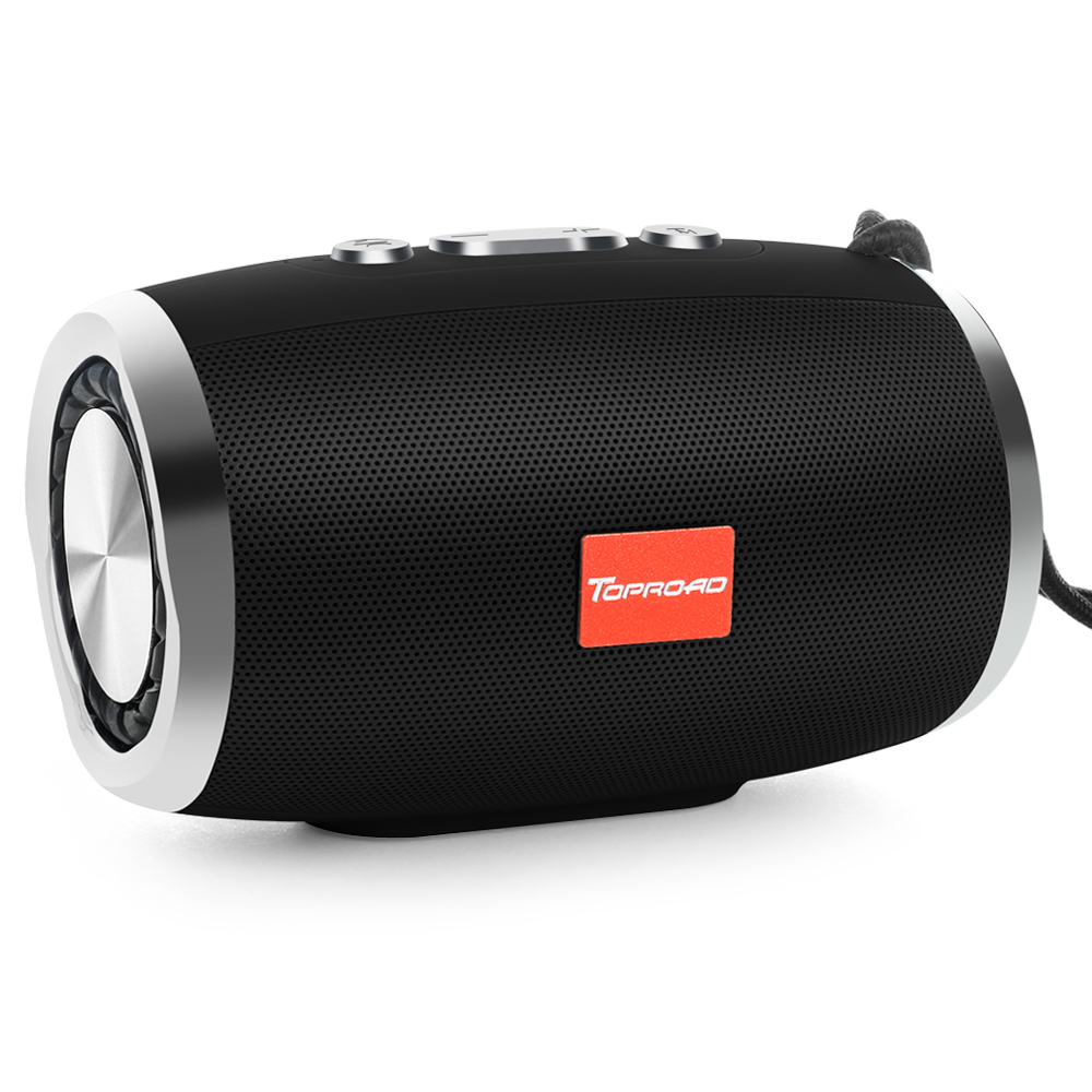 toproad portable bluetooth speaker with tf support fm radio mic aux for computer phone