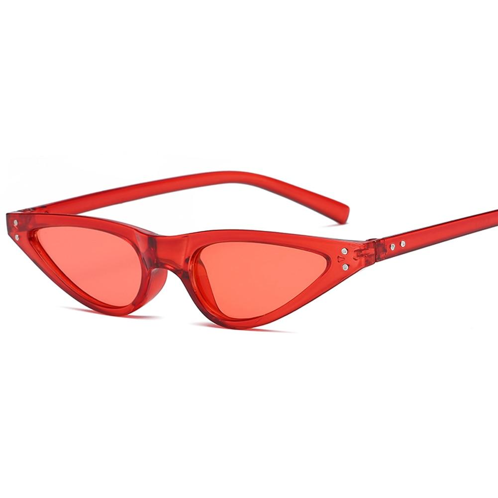 Samjune Small Triangle Cat Eye Sunglasses Women Fashion Vintage Cat Eyeglasses Female Ladies Stylish Sun Glasses UV400 Goggles