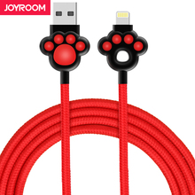 Joyroom USB Cable For iPhone 6S nylon ios 1m Quick Charger Knowledge Cable For iPhone 7 6 6S Plus 5 5S iPad Cell Telephone Cables