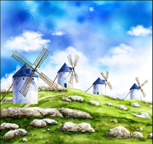 DIY 5d diamond painting landscape diamond picture Dutch windmill rhinestones embroidery landscape cross stitch patterns free