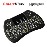 10pcs Backlight I8 I8 H9 2 4G Wireless English Keyboard Backlit With Touchpad For Mini PC