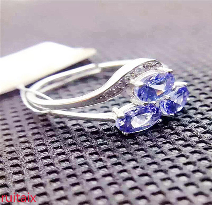 KJJEAXCMY fine jewelry S925 Pure silver inlaid with natural tanzanite ring jewelry platinum color. eyoyo ey 002s wireless 2d scanner 1d 2d pdf417 qr code pocket wireless barcode scanner for android ios mac windows
