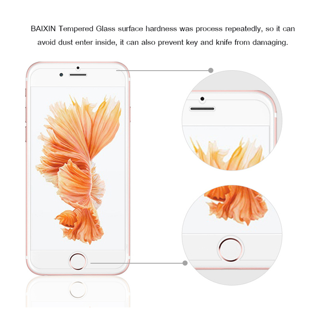 9H tempered glass For iphone XR XS X 8 4s 5s 5c SE 6 6s plus 7 plus screen protector protective guard film case cover+clean kits