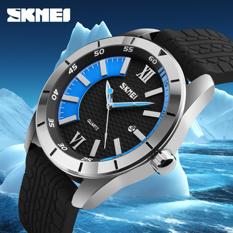 Mens Watches SKMEI Brand Luxury Casual Men Waterproof Quartz Sports Wristwatch Silicone Strap Male Clock watch relogio masculino Multan