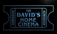 X0006 Tm The David S Home Cinema Ticket Custom Personalized Name Neon Sign Wholesale Dropshipping