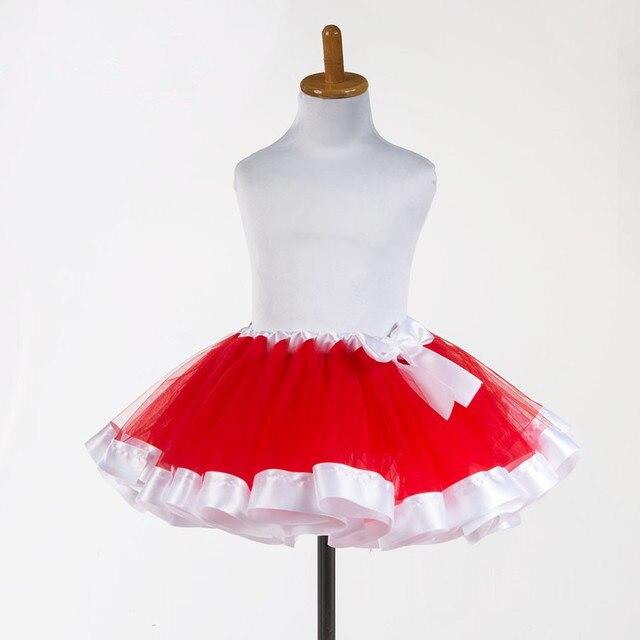 Красный воздушного тюля дети девушки детей юбка малышей детские мини платье костюмированный бал ну вечеринку балет танец свадебная юбка
