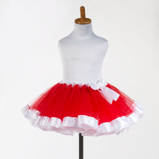 red tutu fluffy tulle kids children girl skirt toddler baby mini costume ball gown party ballet dance wedding pettiskirt