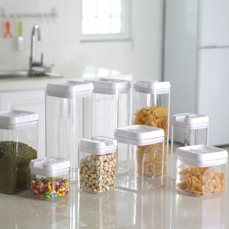Kitchen Storage Jars Container Food Cooking Tools Box