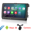 "9""CAR DVD GPS navi 1024x600 Android 4.4 for VW golf 5 6 touran passat B6 sharan jetta caddy Tiguan EOS Radio GPS navi"