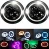 7inch LED Halo Headlights Kit 7 LED Headlight H4 Hi Low Auto Headlight With Angle Eye