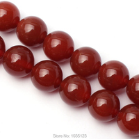 Free Shipping 16mm Smooth Natural Red Color Agate Round Shape Gems Loose Beads Strand 15 DIY