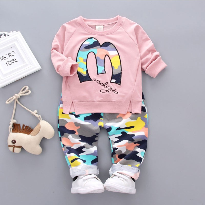 Kids Autumn Clothes Camouflage Letter Printed Girl T-shirt Set Casual Children Clothing Boys Winter Clothes For Kids kids autumn clothes fashion letter printed boys t shirt set casual children clothing girl winter clothes for kids baby clothing