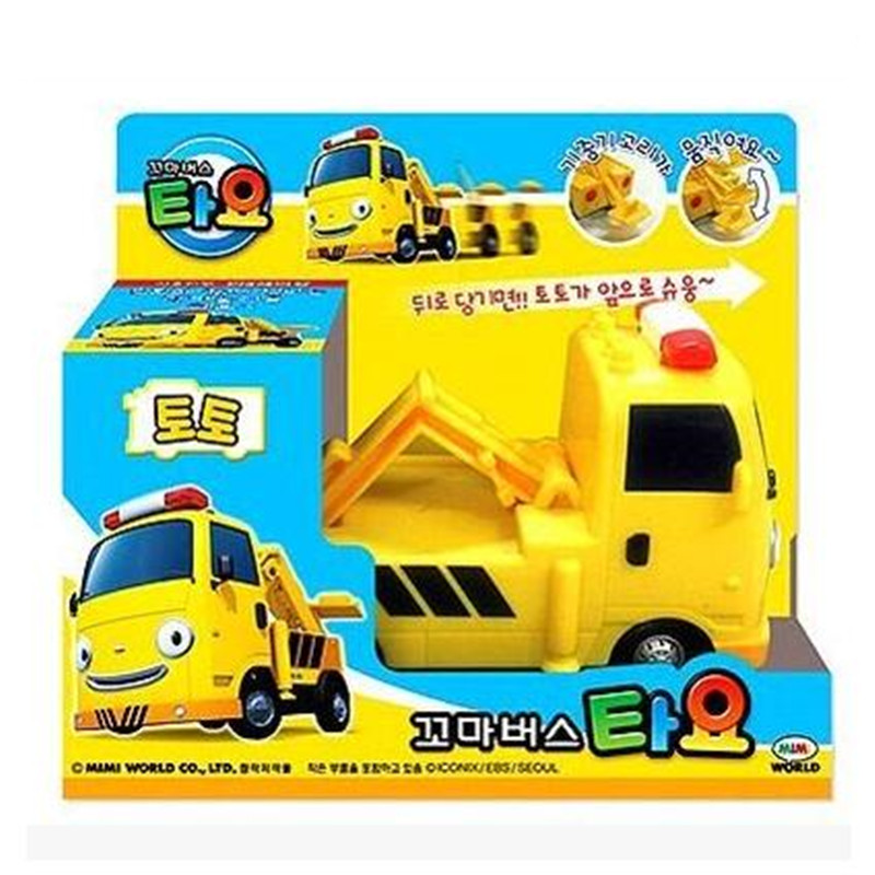 tayo the little bus yellow tractor toto engineering truck kids toys model car tayo bus juguetes