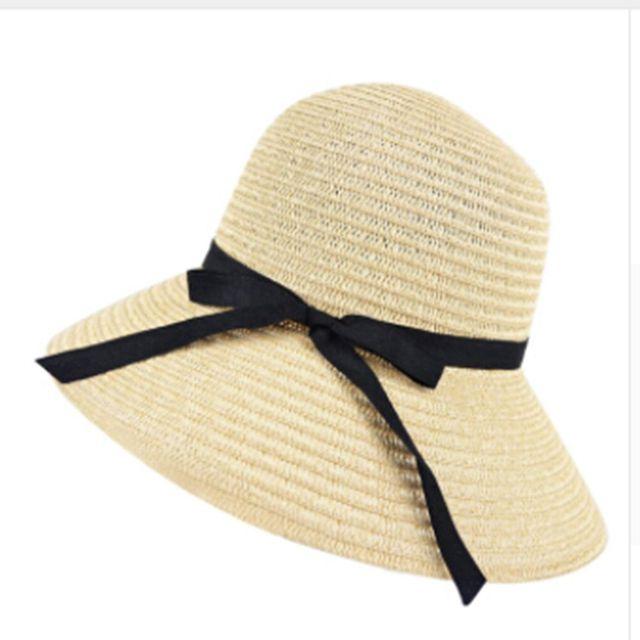 2018 Modern Hot New Fashion Summer Casual Women Ladies Wide Brim Beach Sun  Hat Elegant Straw bf9e7688ae2