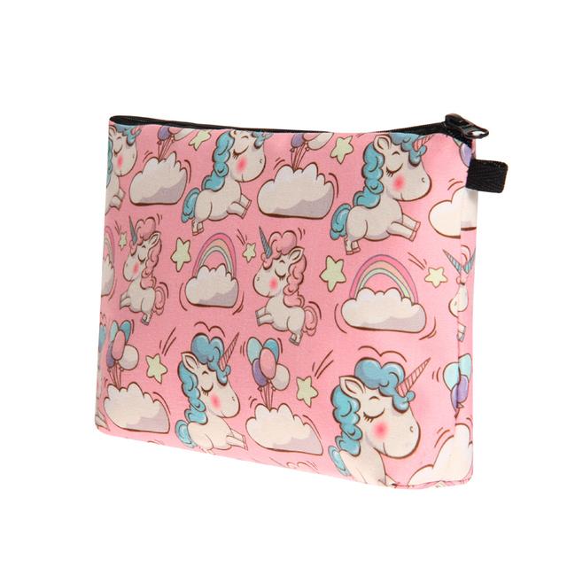 Cute Unicorn Printed Makeup Cosmetic Bag