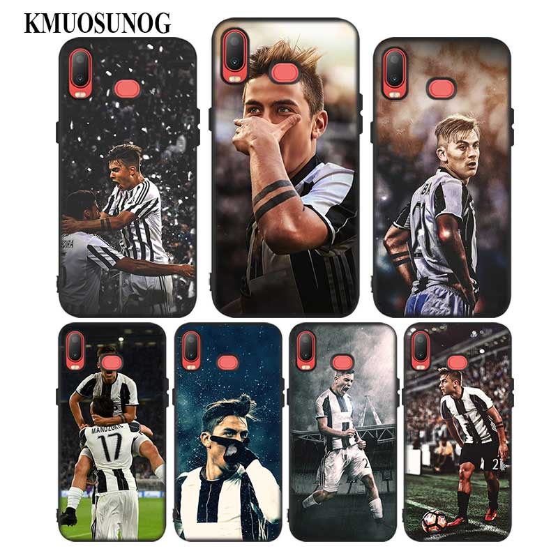 For Samsung A6S A8S A6 A7 A8 A9 A5 A3 Star Plus 2018 2017 2016 Black Silicon Phone Case Football Player Paulo Dybala Style in Fitted Cases from Cellphones Telecommunications