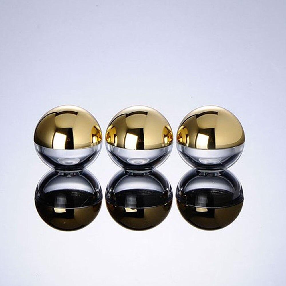 100pcs 5g Cosmetic Ball Container gold silver lid Lip Balm Jar Eye Cream Portable Travel Sample