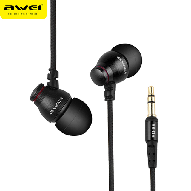 AWEI Wired Earphone Headset for Xiaomi Samsung iPhone Oneplus 3.5mm Bass Sound  In-Ear Earpiece Wire Earbuds fone de ouvido MP3
