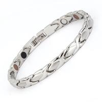 38 New Fashion Health Bracelet Femel Energy Healing Stainless Steel Magnetic Hologram Bracelet For Men Women Free Shipping