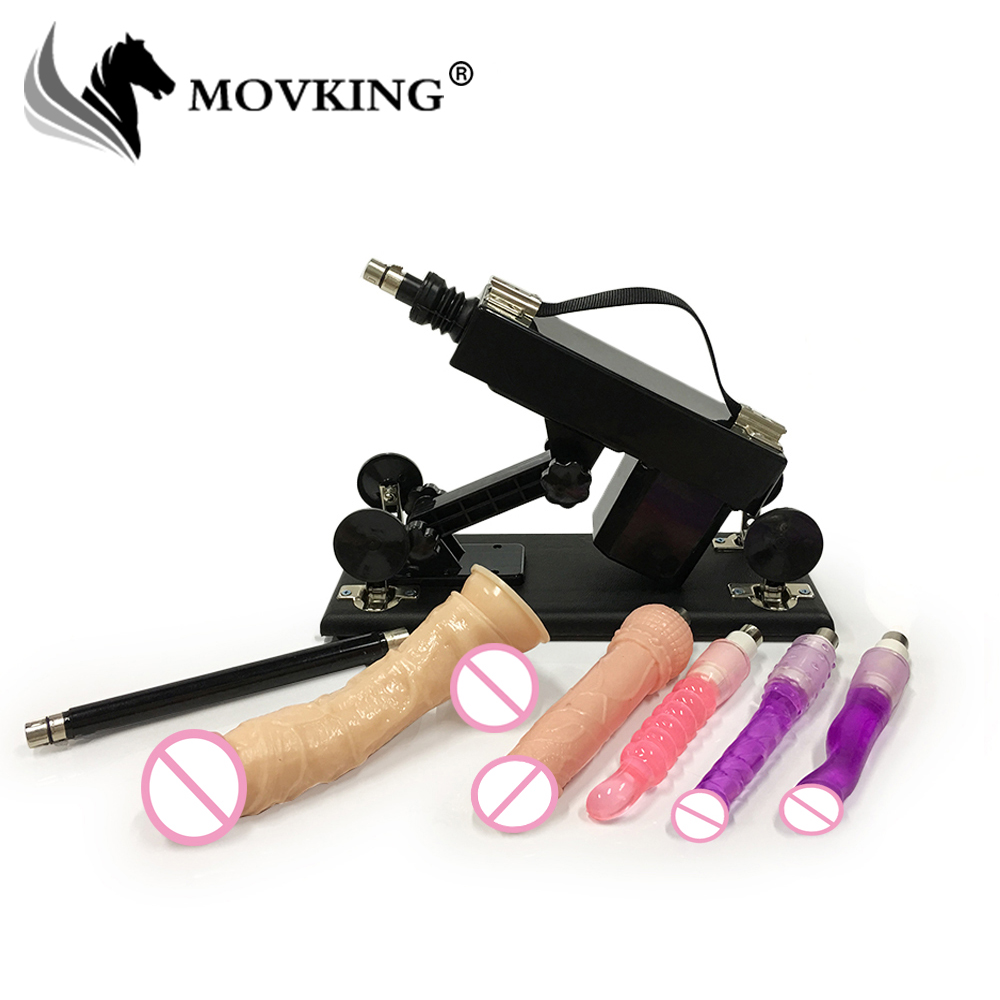 MOVKING Automatic Sex Machine with Big Dildos Attachment Love Machines Gun Adult Sex Toys for Women Sex Products hismith automatic machine gun amazing power love sex machine with deluxe attachment set sex machines for women and men sex toys