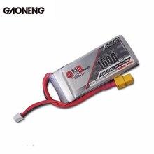 Оригинальная Аккумуляторная литий полимерная батарея Gaoneng GNB 14,8 в 1500 мАч горячая Распродажа 120C/240C для FPV радиоуправляемого квадрокоптера гоночной рамки DIY