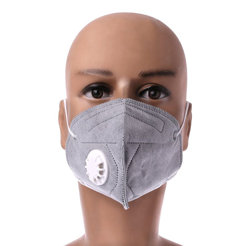 2pc Disposable Activated Carbon Dust Mask Charcoal Particulate Filter Respirator Profit Small