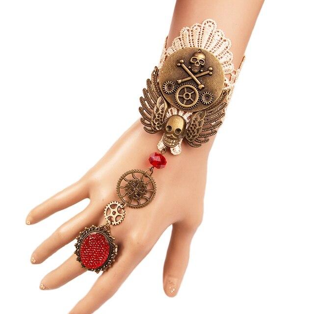 Hand Skeleton Bracelet Women Punk Gothic Jewelry Best Friend Bracelets For Sisters Unique Lady Hot