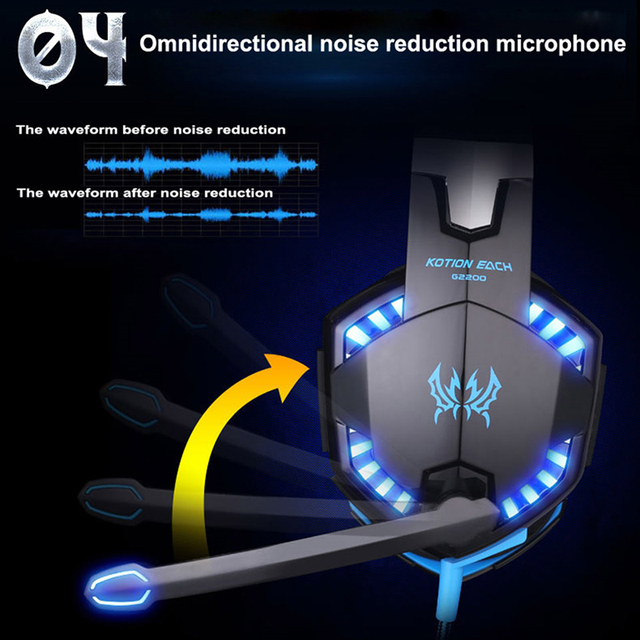 KOTION EACH G2200 USB Headphones Vibration 7.1 Surround Sound And G2000 3.5MM Stereo Gaming Headset Light Headphone For Computer 3